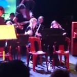 Bella played her saxophone for the school concert